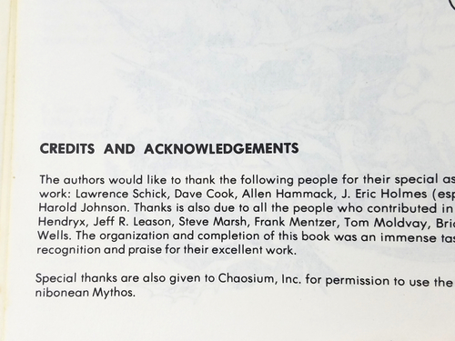 "Deities & Demigods 3rd Print ""Thanks"" Chaosium 128pgs EXC! HTF NV3"