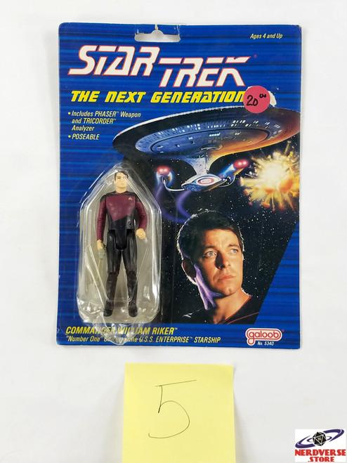 Commander William Riker Galoob NOC Star Trek Next Generation NV5