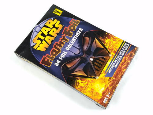 Star Wars Flashy Foil Valentines Darth Vader Paper Magic New in Box NV2