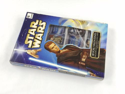 Star Wars 30 Foil Valentines with Seals Paper Magic MISB NV2