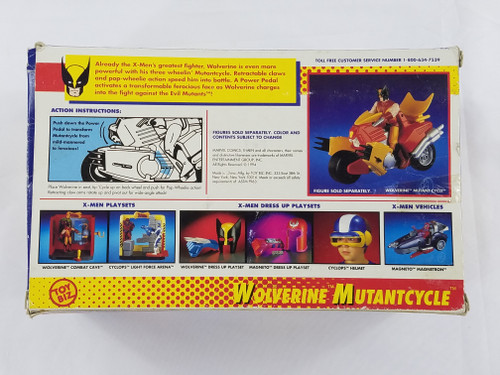 WOLVERINE MUTANTCYCLE XMEN TOY BIZ OPEN WITH BOX #4962