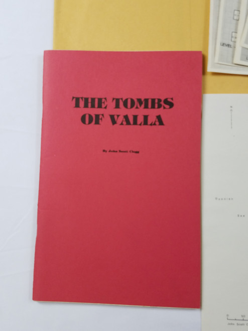 Very Rare The Tombs of Valla RPG Adventure by John Scott Clegg Small Press