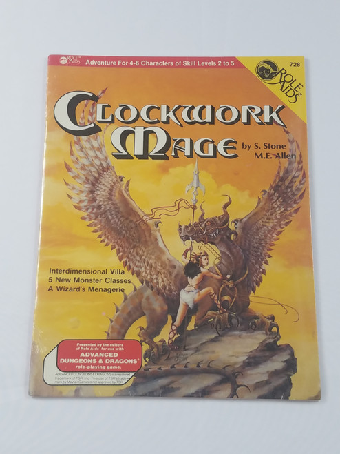 Clockwork Mage Brand New Sealed Role Aids Module Dungeons & Dragons