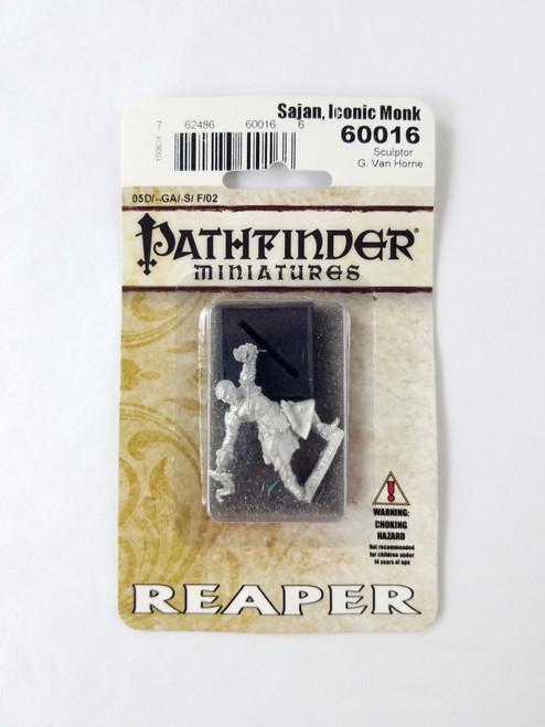Sajan Iconic Monk 60016 Metal Pathfinder Miniatures Reaper Paizo