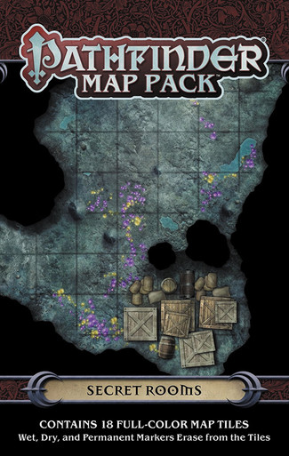 PZO4067 Paizo Publishing Pathfinder RPG Map Pack Secret Rooms
