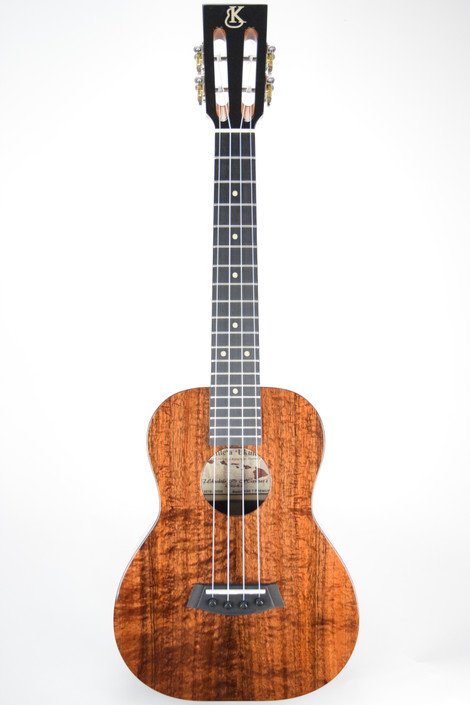 Kanile'a KSE-T-PREM : Premium Curly Hawaiian Koa Slot Head Tenor Ukulele (Serial # 20506)