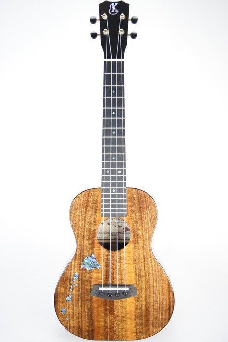 Kanile'a ISL-T-PREM : Premium Curly Hawaiian Koa Tenor Ukulele with Island Inlay (Serial # 20556)