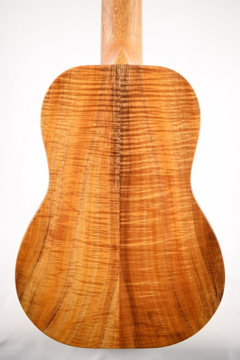 Kanile'a ISL-C-PREM : Premium Curly Hawaiian Koa Concert Ukulele with Hawaiian Islands Inlay (24199) - Back