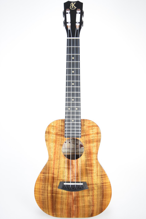 Kanile'a KCS-T : Deluxe Curly Hawaiian Koa Slot Head Tenor Ukulele