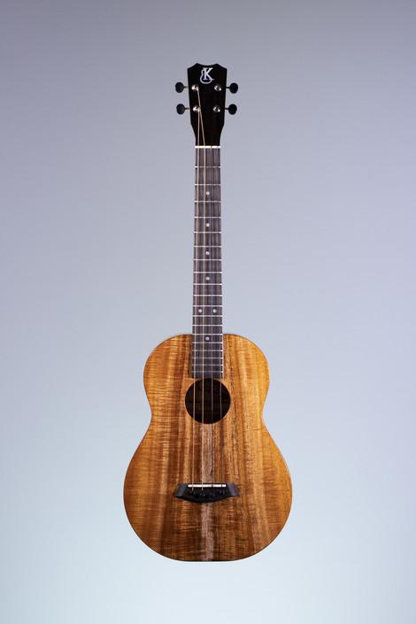 Kanile'a K-1B-DLX : Deluxe Curly Hawaiian Koa Baritone Ukulele (23172)