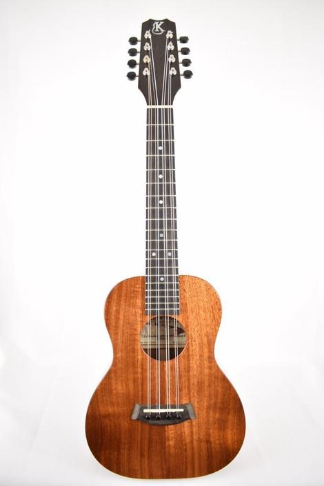 Kanile'a K-1T8 : Hawaiian Koa 8-String Tenor Ukulele  - Full Face