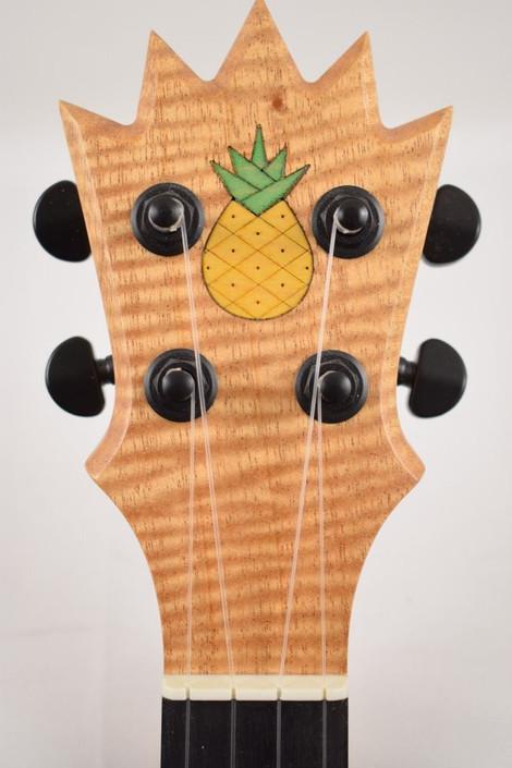 KoAloha Pops' Pineapple Sunday : Opio Series Acacia Pineapple Super Concert Ukulele (060221) - Headstock