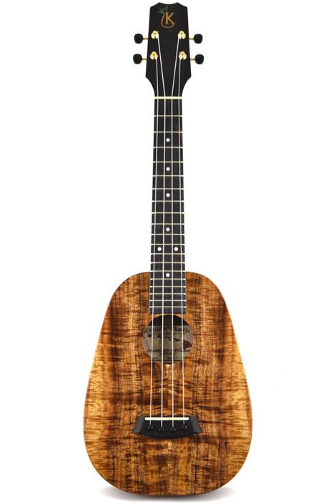 Kanile'a P-1T-PREM : Premium Curly Hawaiian Koa Pineapple Tenor Ukulele (22634)