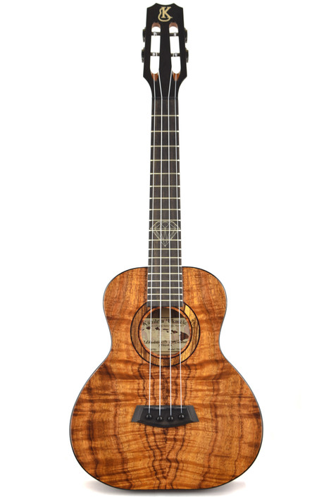 Kanile'a DIAMOND-ST : Premium Curly Hawaiian Koa Super Tenor Ukulele (20753)