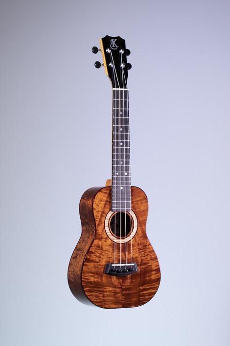 Kanile'a K-3C-PREM : Premium Curly Hawaiian Koa Concert Ukulele (22451)