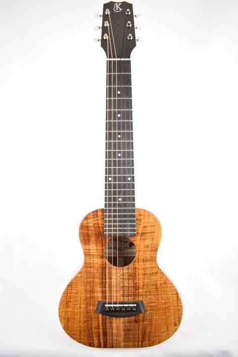 Kanile'a K-1-GL6-DLX : Deluxe Curly Hawaiian Koa Guitarlele - Full Face