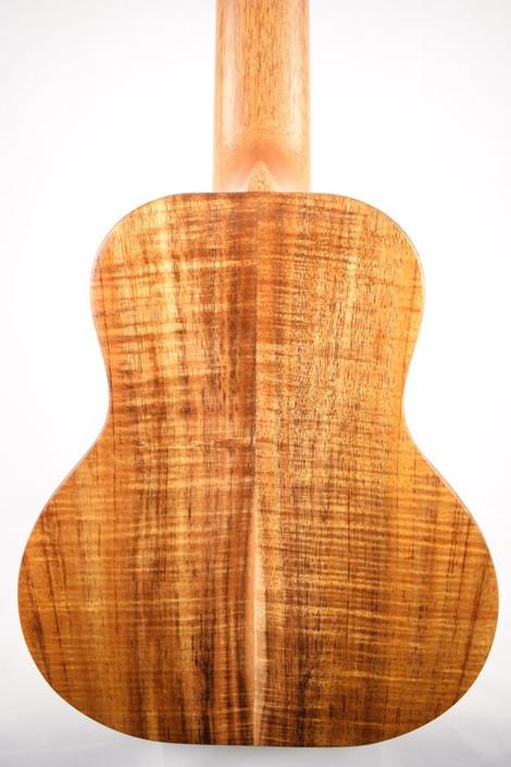 Kanile'a K-1-GL6-DLX : Deluxe Curly Hawaiian Koa Guitarlele - Back