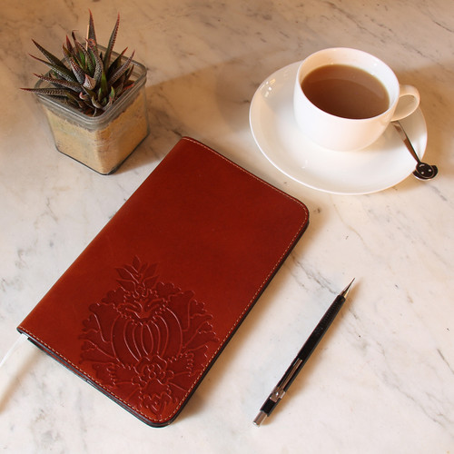Leather Notebook Cover - Large Cahier