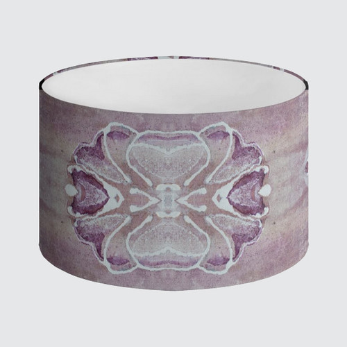 Lampshade 40cm - Violet with Floral Pattern