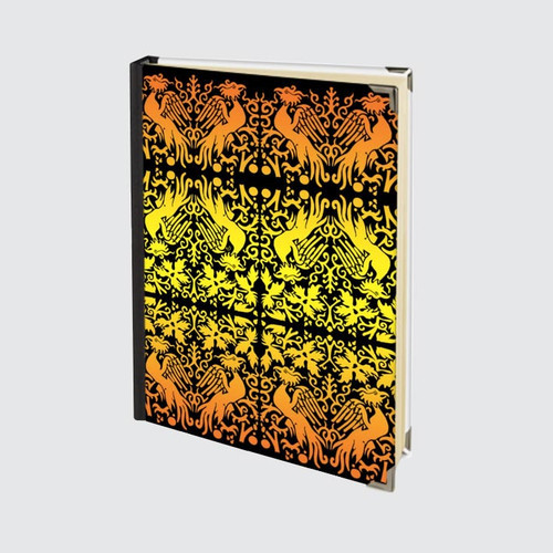 A5 Hardback Journal with blank pages and Yellow and Orange Griffin Design