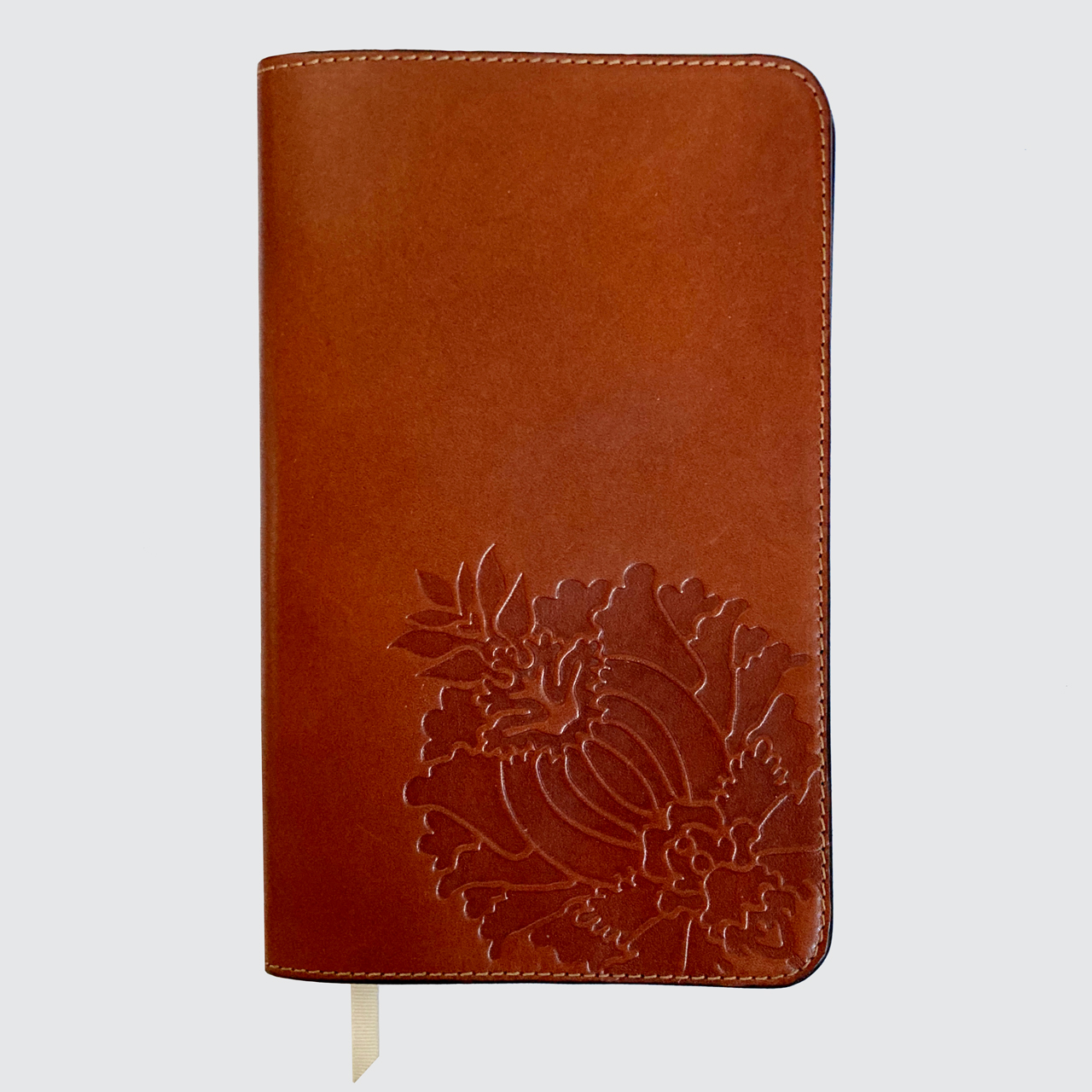 Rose, Long, Accessories, Long Studio Design, tan, notebook covers, leather, embossed, floral, uk,