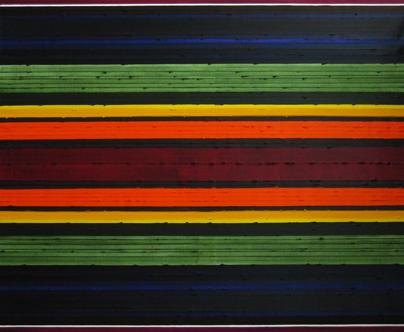 Stripes Chakra Oil Painting by Rose Long