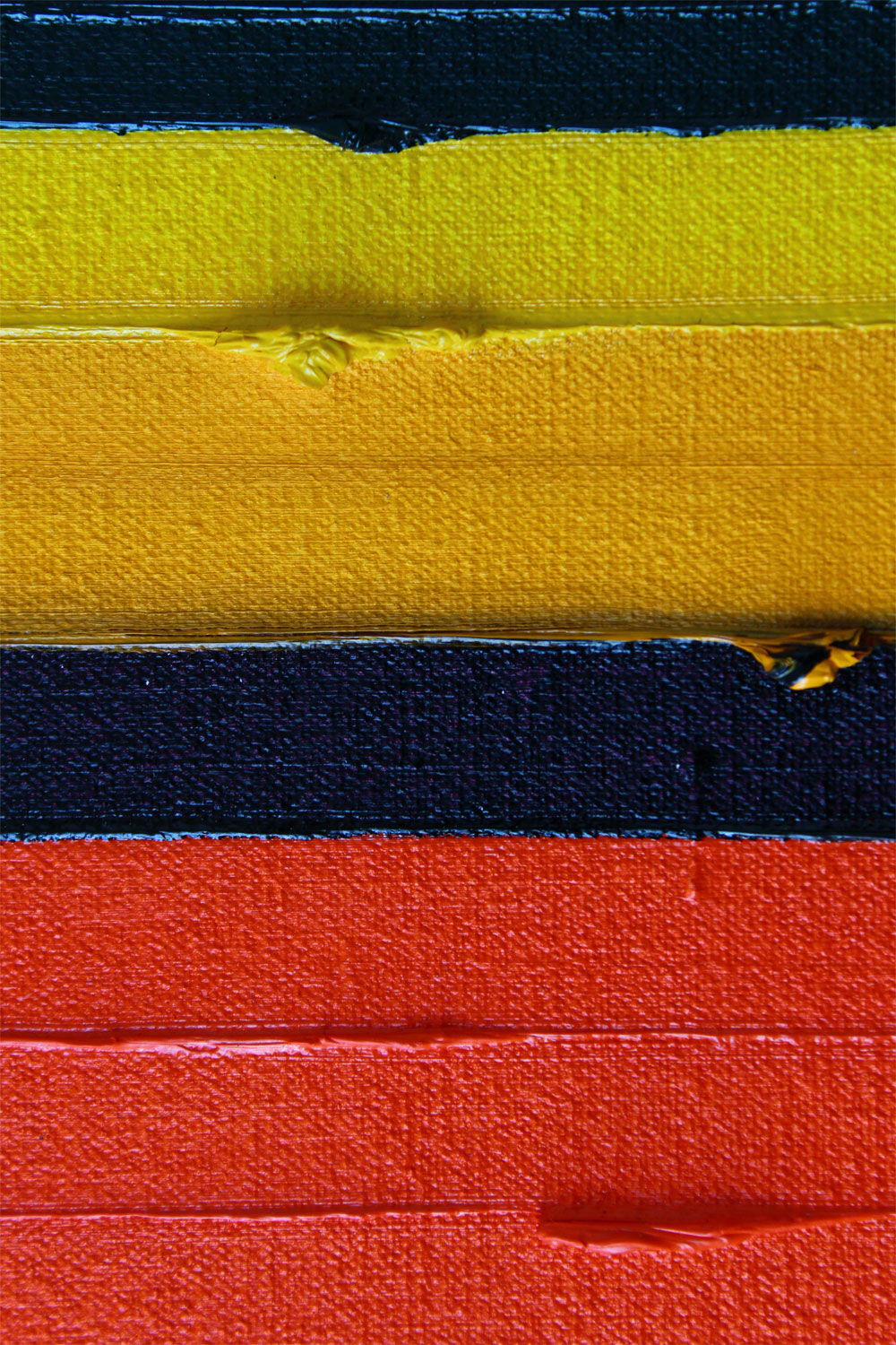 Detail of Stripes Chakra Oil Painting by Rose Long