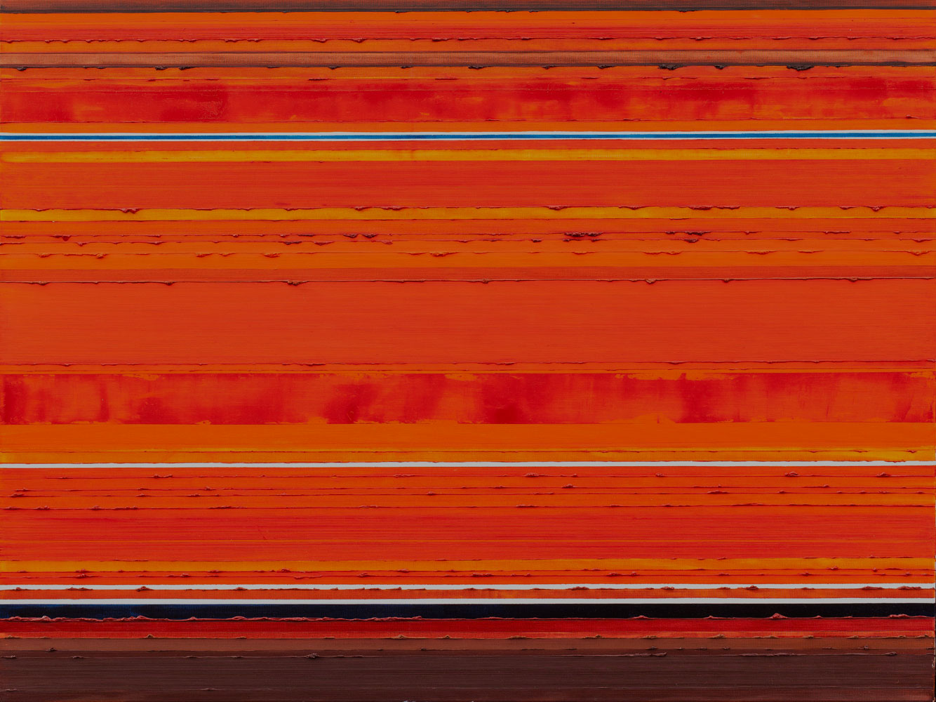 Stripes Orange Oil Painting by Rose Long
