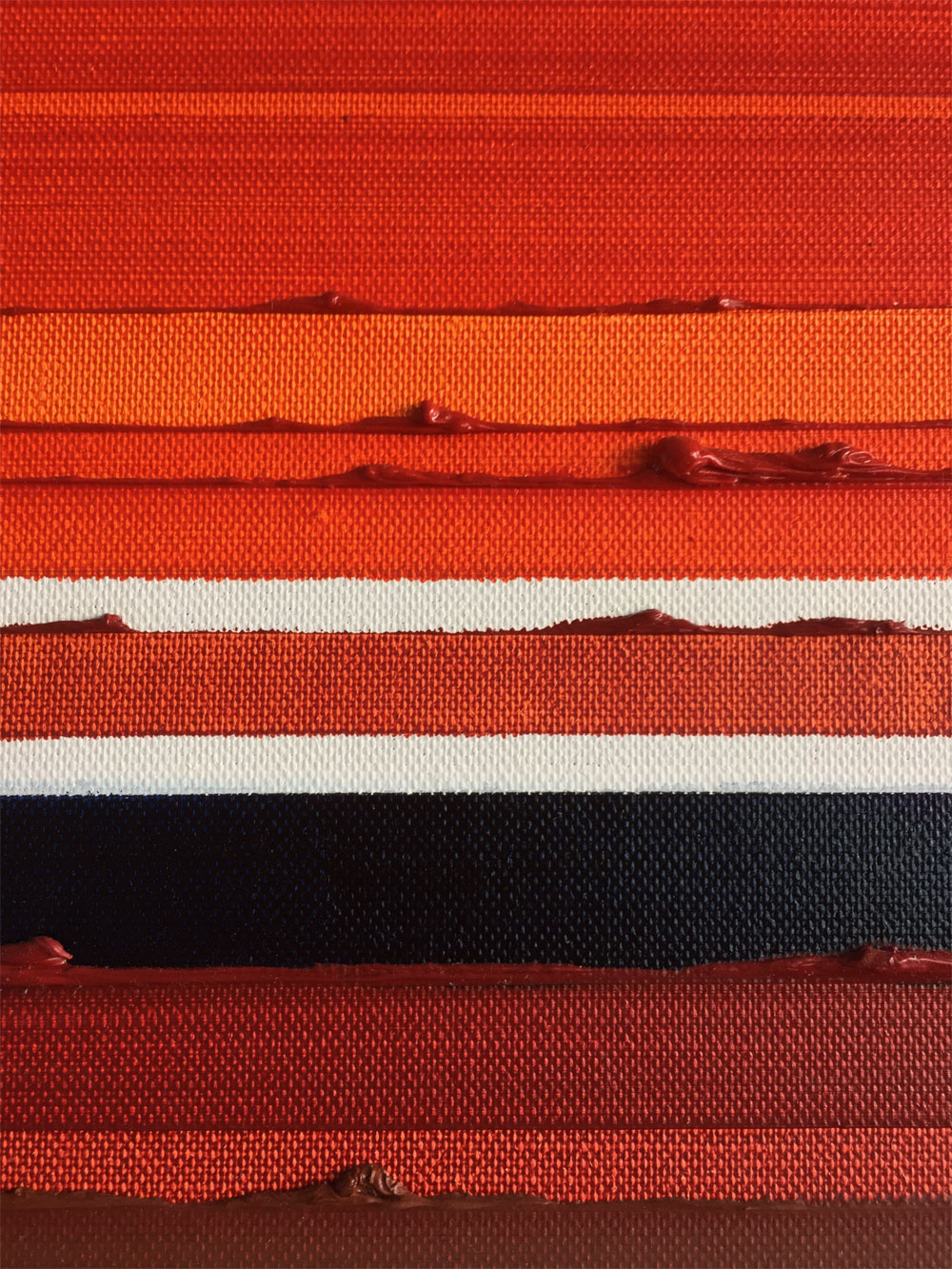 Detail of Stripes Orange Oil Painting by Rose Long