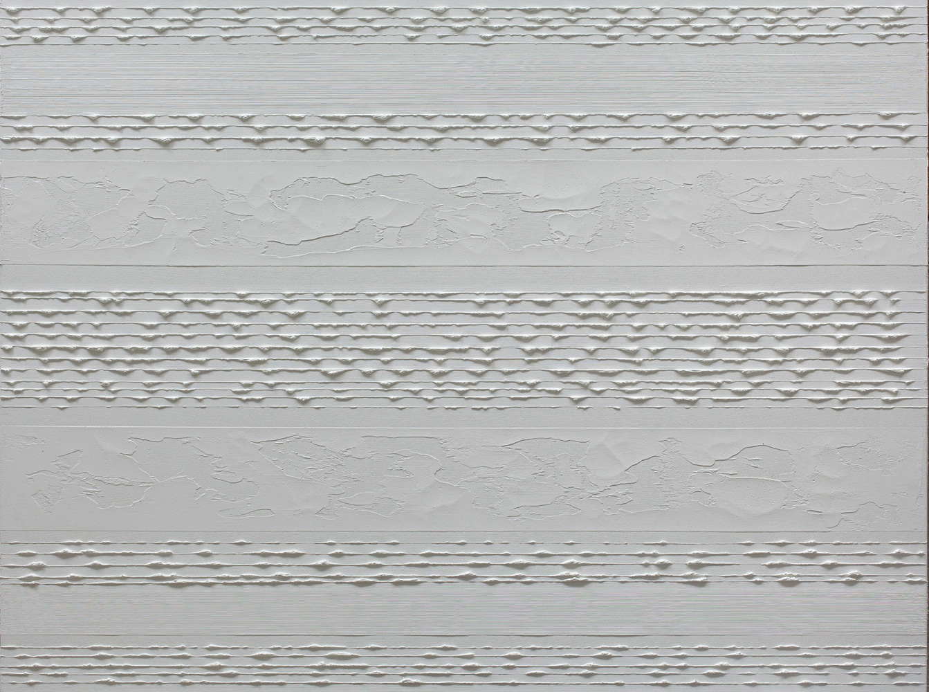 Stripes White on White Oil Painting by Rose Long