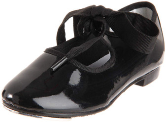 Dance Class Black Patent Tap Shoe (Toddler/Youth)