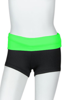 Black Short with Bright Color Waistband
