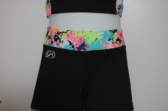 Elite Print Passion Waistband Cheer Shorts (Youth)