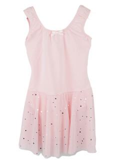 Star Mesh Leotard Dress