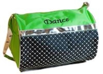Silver Sequin Dance Duffle Bag