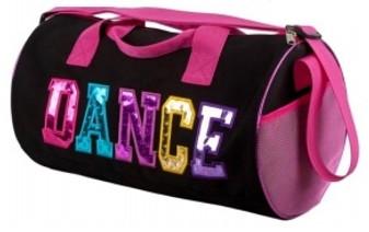 Dance Canvas/Metalic Duffle Bag