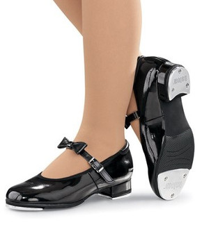 Mary Jane Black Patent Tap Shoe (Adult)