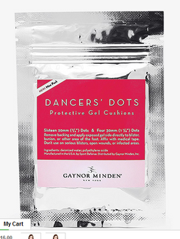 Dancers' Dots Protective Gel Cushions Mini Pack
