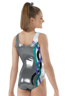 Metallic Ribbon Gymnastic Leotard