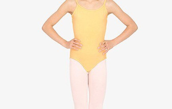 Low Back Cotton Camisole Leotard   (Adult)