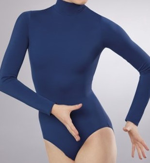 Mock Neck Long Sleeve Leotard