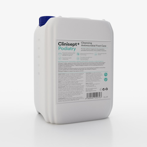 Clinisept+ Podiatry Cleansing Antimicrobial Foot Care 5L Container