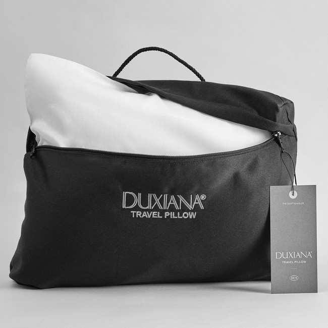 DUXIANA Travel Pillow, folded and inserted