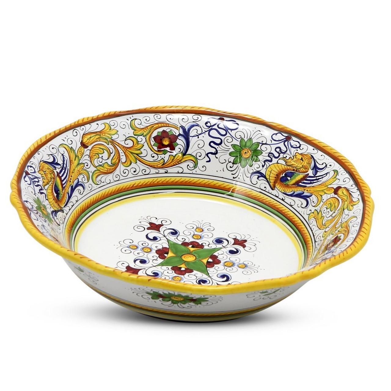 Raffaellesco Large Pasta Salad Serving Bowl Italian Ceramics