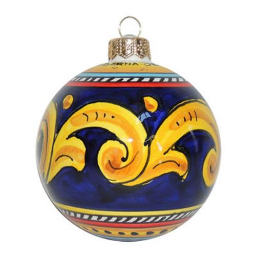 Geometrico Blue Italian Christmas Ornament