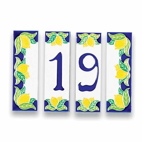 Italian Tiles Italian Ceramic Tile Mail: Italian House Numbers Tiles