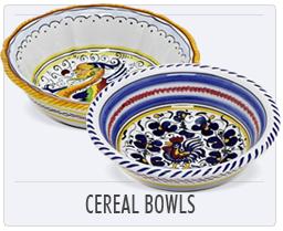Italian Deruta Pottery Cereal Bowls