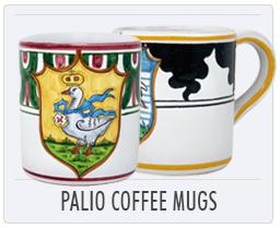 Italian Deruta Palio di Siena Coffee Mugs