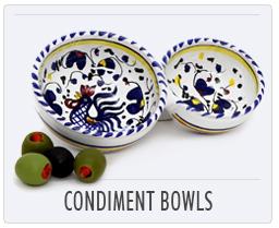 Italian Deruta Pottery Condiment Bowls