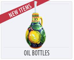 Italian Pottery New Oil Bottles